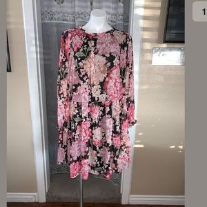 H&M Floral Bloggers Favorite Dress Wide Cut Large